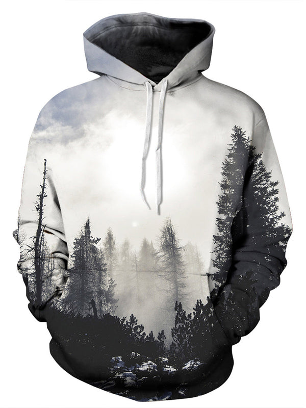 3D Forest Print Hoodie