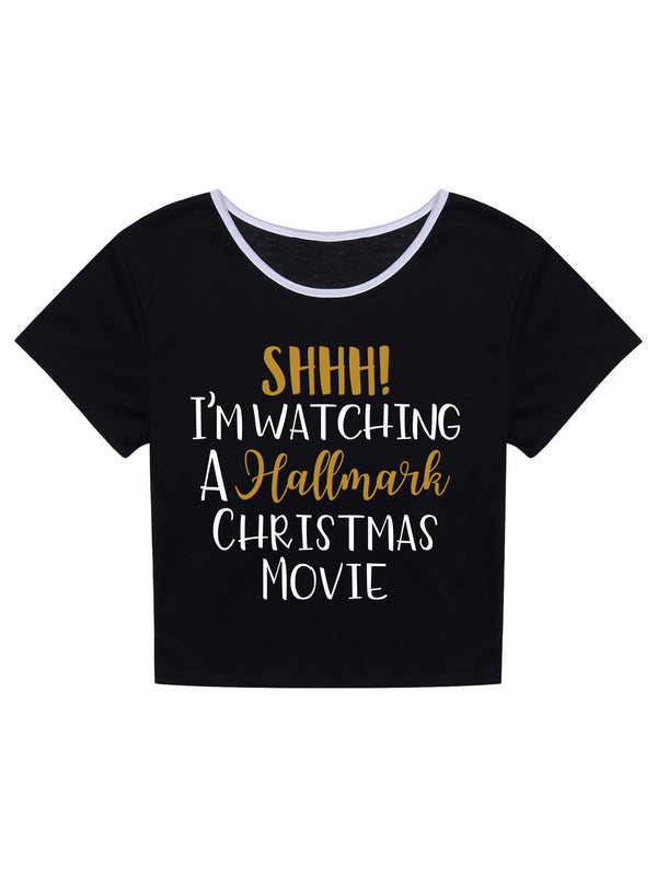 SHHH! I'm Watching Hallmark Movie T-Shirt -658