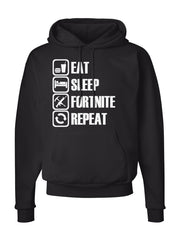 Men's Eat Sleep Fortnite Repeat Pocket Hoodie -738