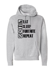 Men's Eat Sleep Fortnite Repeat Pocket Hoodie -737