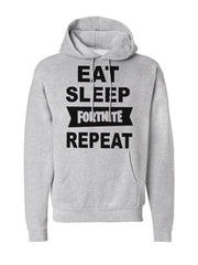 Men's Eat Sleep Fortnite Repeat Pocket Hoodie -727