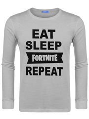Men's Eat Sleep Fortnite Repeat Swearshirts -727