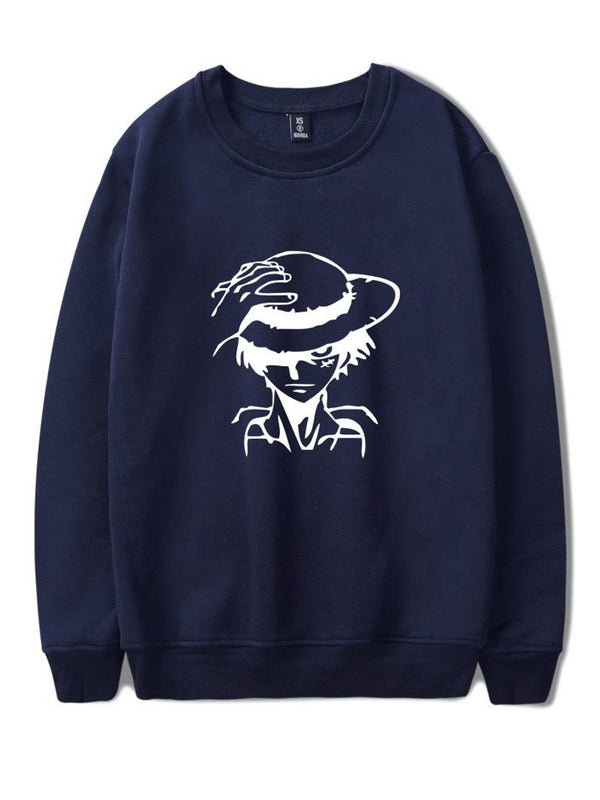 Luffy Print Sweatshirt