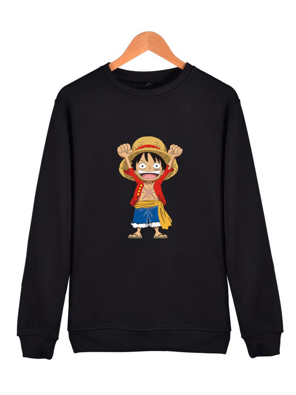 Cartoon Luffy Print Sweatshirt