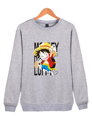 Cartoon Luffy Sweatshirt