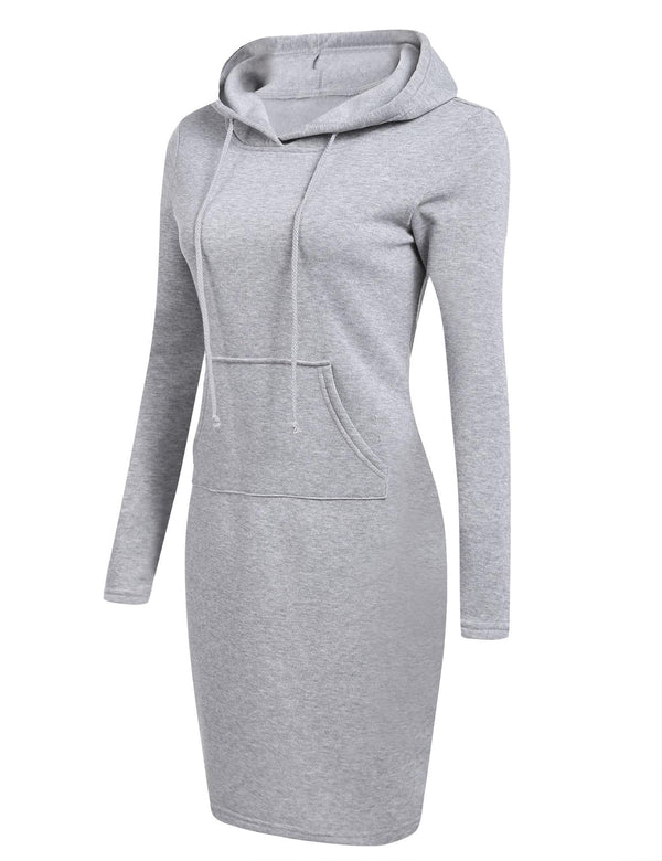 Gray Pencil Hoodie Dress