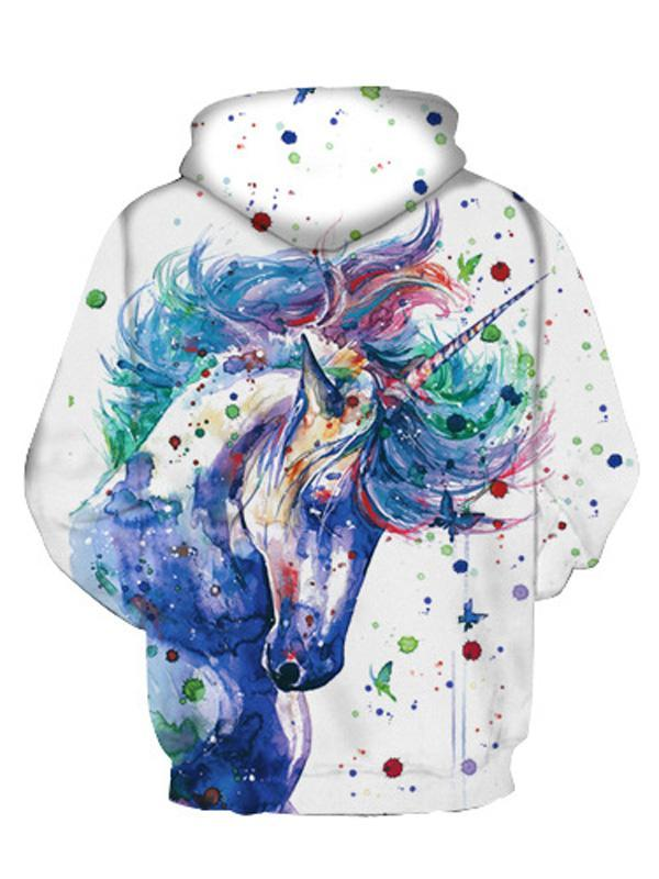 White Midnight Unicorn Hoodie