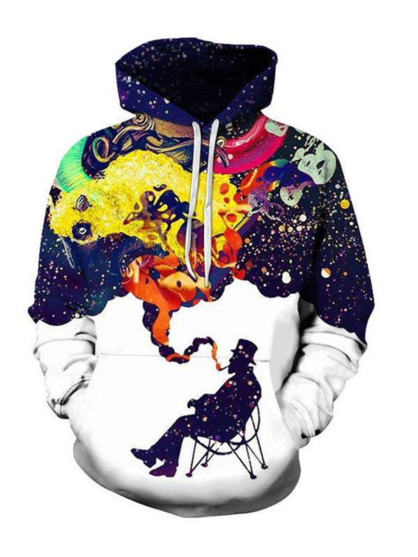 3D Colorful Smoking Hoodie