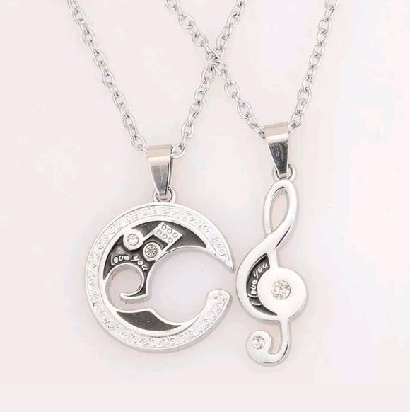 Music Lovers Couples Necklaces