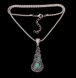 Braided Silver and Turquoise Necklaces