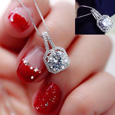 Elegant Round  Cubic Zircon Necklaces