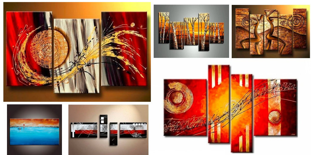 3 Piece Paintings, Modern Paintings for Living Room, Abstract Paintings for Bedroom
