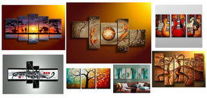 Modern Paintings for Living Room, Acrylic Paintings for Living Room, Living Room Canvas Paintings