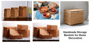 Rectangular Storage Basket for Kitchen and Bathroom, Round Storage Baskets, Extra Large Storage Basket