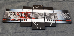 Painting Samples of 5 Piece Acrylic Painting, Hand Painted Wall Painting for Living Room, Modern Wall Art Painting