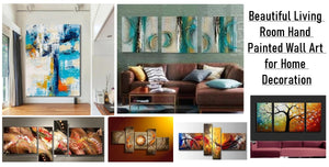 Living Room Wall Art Ideas, Abstract Living Room Canvas Art, Hand Painted Acrylic Painting, Modern Living Room Wall Art Painting, Buy Paintings Online