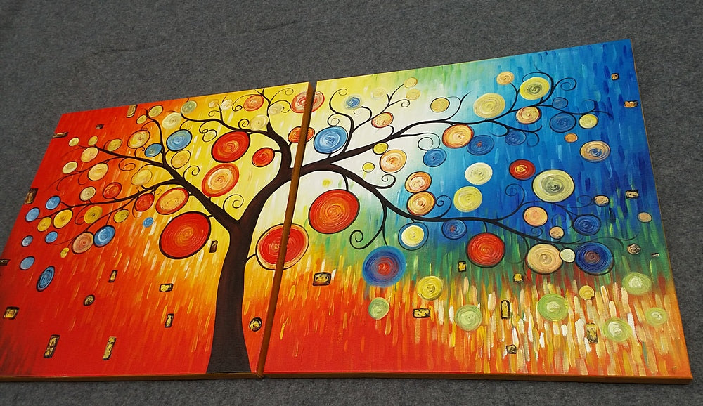 Painting Samples of Tree of Life Painting, Heavy Texture Painting
