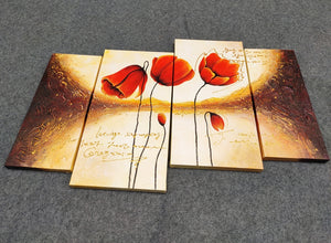 Painting Samples of Flower Painting, Large Acrylic Painting, Hand Painted Canvas Painting