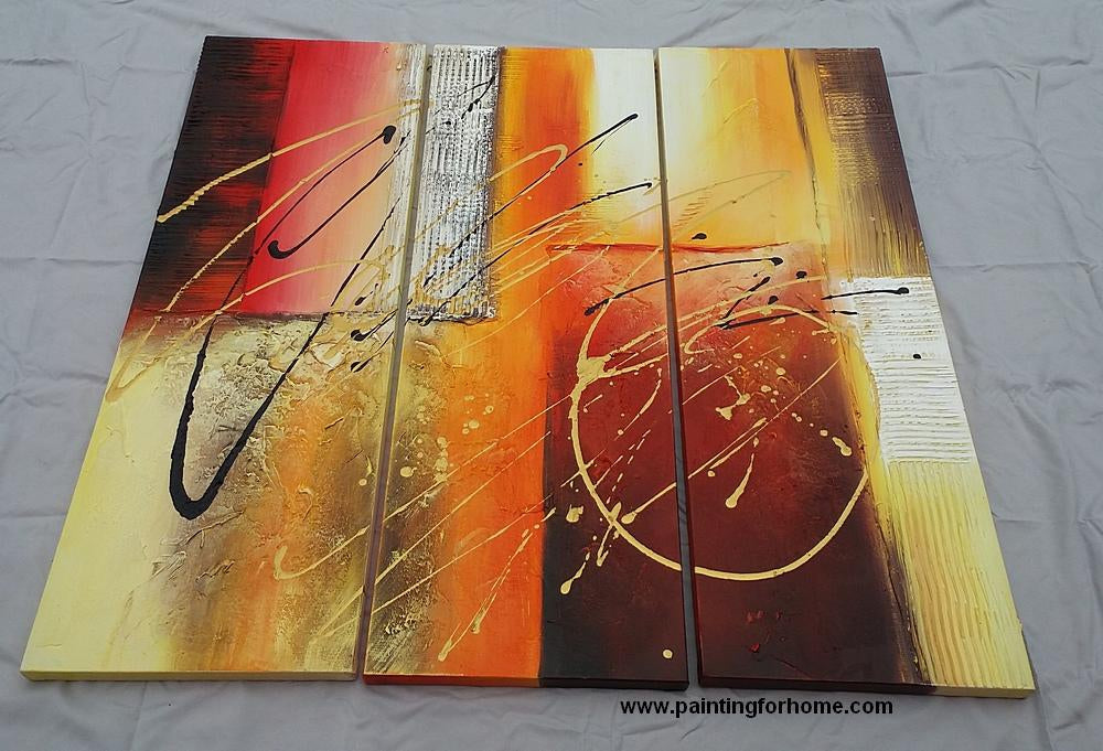 Samples of 3 Panel Abstract Wall Art for Home, 100% Hand Painted Art, 15% Off and Free Shipping to Worldwide