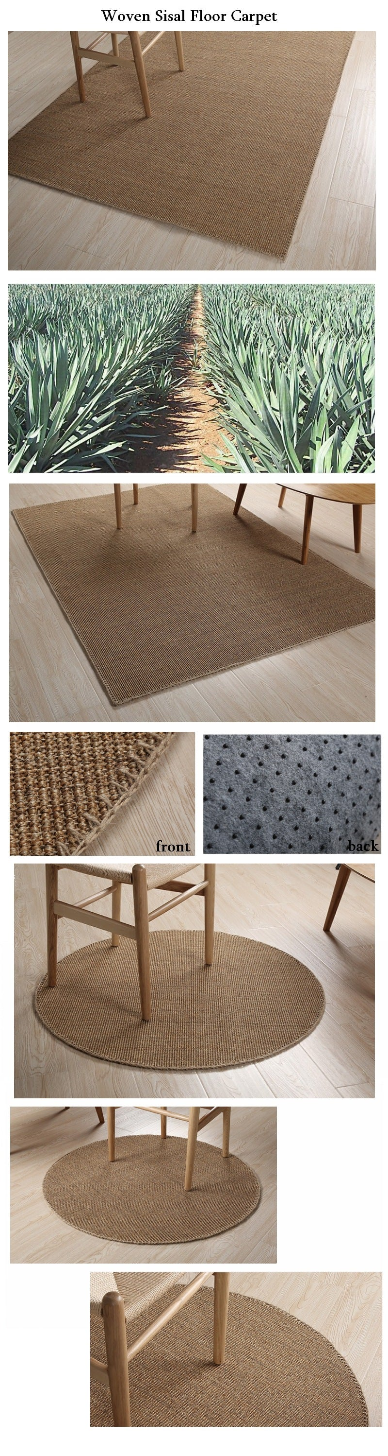 Large Sisal Carpet, Woven Carpet, Floor Carpet and Rugs