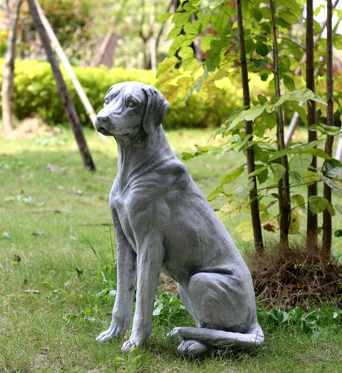 Dog Statues, Sitting Dog Statues, Pet Statue for Garden Courtyard Decoration, Villa Outdoor Decor Gardening Ideas