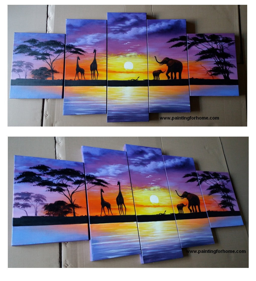 Painting Samples Of African Painting Sunset Painting Abstract Art