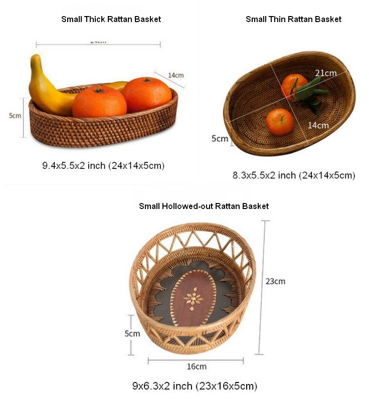 Indonesia Hand Woven Storage Basket, Natural Fiber Baskets, Small Rustic Basket