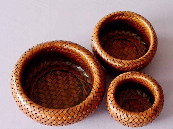 bamboo snap baskets