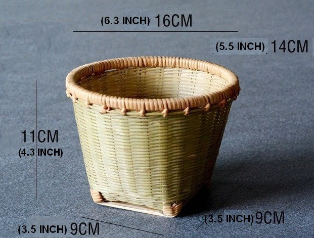 Natural Bamboo Basket, Rustic Basket