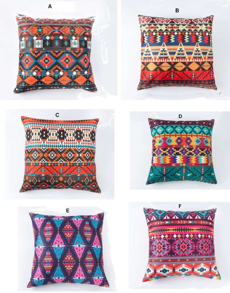 Bohemian Style Cotton and linen Pillow Cover, Decorative Throw Pillow, Sofa Pillows