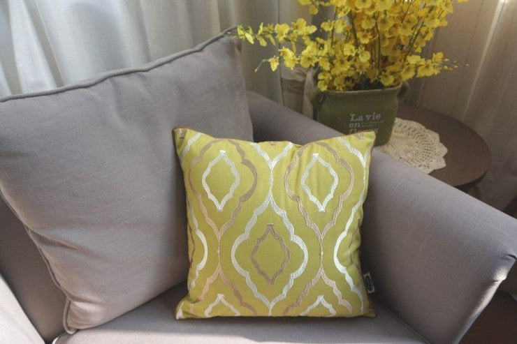 Embroider Cotton Pillow Cover, Decorative Throw Pillow, Sofa Pillows, Home Decor