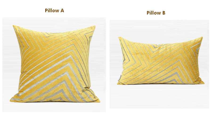 Yellow Simple Style, Modern Throw Pillow, Pillow Cover with Insert, Sofa Pillows, Bedroom Pillows, Home Decor