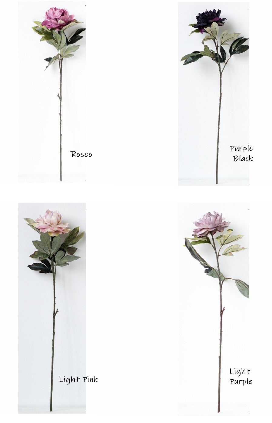 Peony Flower Arrangement, Long Stem Flower, Rustic Atificial Flowers, Wedding Floral