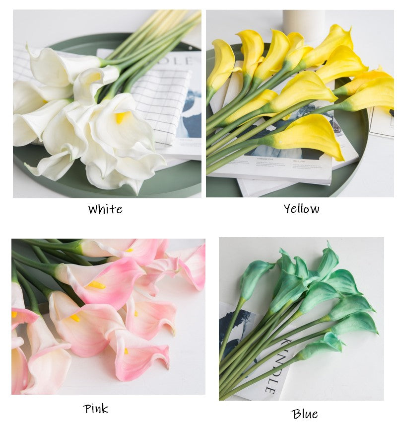 A Bunch of Calla Lily Flower Bulbs, Wedding Bouquets, Faux Flower, Real Touch Rustic Atificial Flowers
