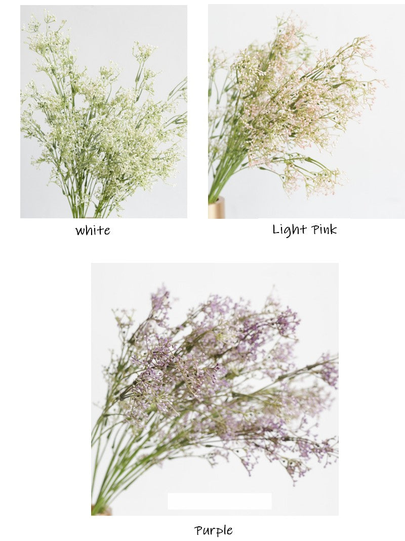A Bunch of Babysbreath Flower, Faux Flower, Real Touch Rustic Atificial Flowers, White, Pink, Purple