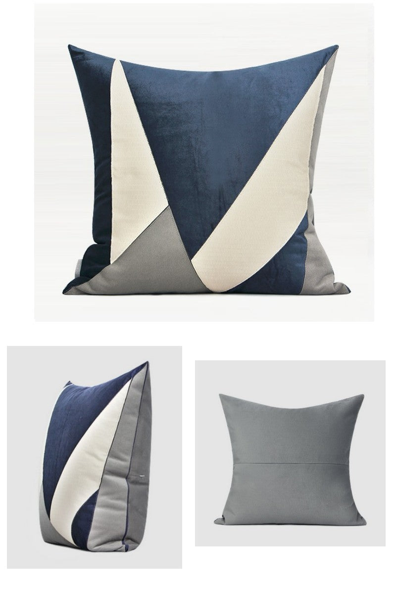 Blue, White, Gray Simple Style, Modern Throw Pillow, Sofa Pillows, Couch Pillows, Home Decor
