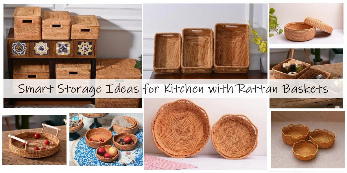 smart storage ideas for kitchen, storage baskets for shelves, storage baskets with lip
