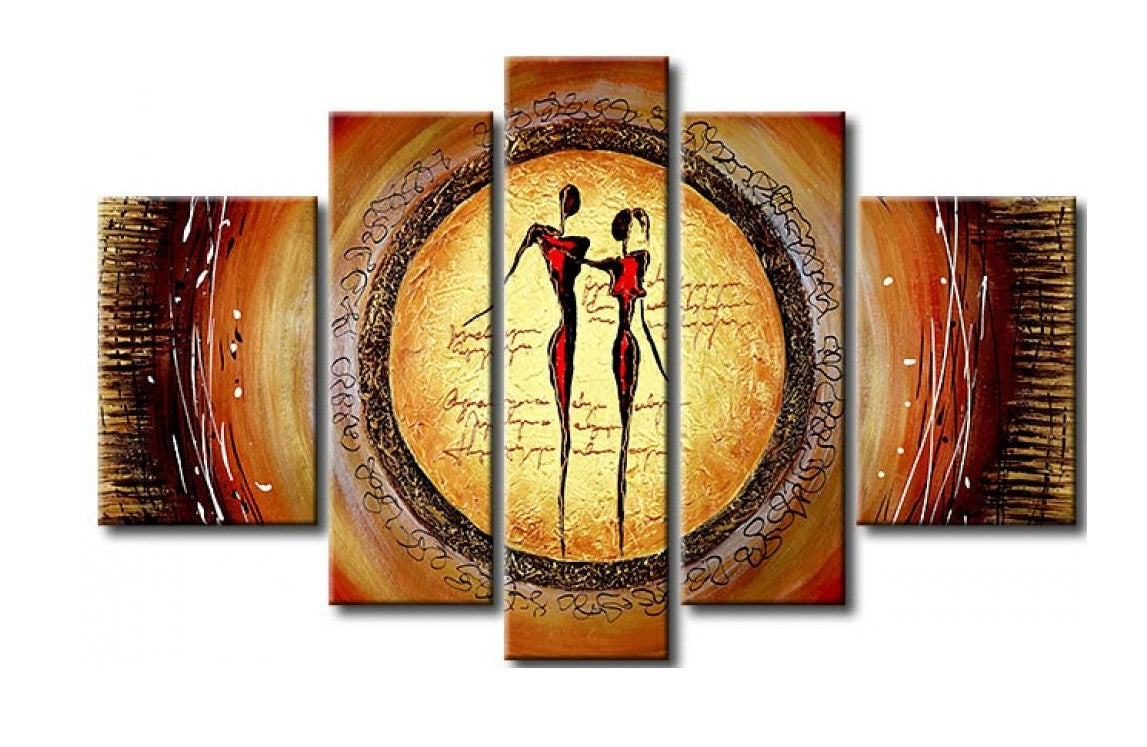 Abstract Art of Love, Acrylic Modern Paintings, Multi Panel Wall Paintings, Paintings for Living Room, Painting for Sale