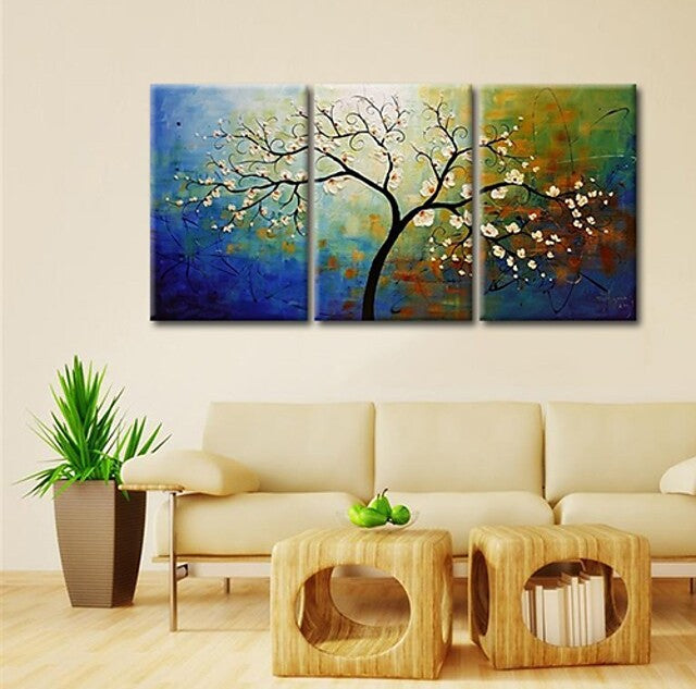 Heavy Texture Painting, Acrylic Painting for Bedroom, Tree of Life Painting, Palette Knife Painting, Simple Painting Ideas