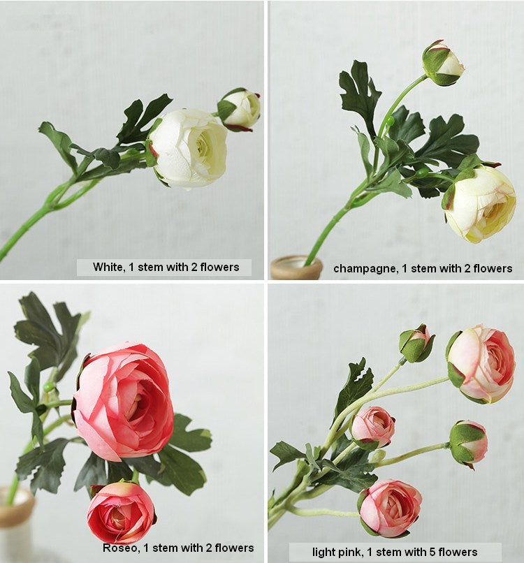 1 Stem Peony Flower, Real Touch Flower, Rustic Atificial Flowers, Wedding Floral Arrangement