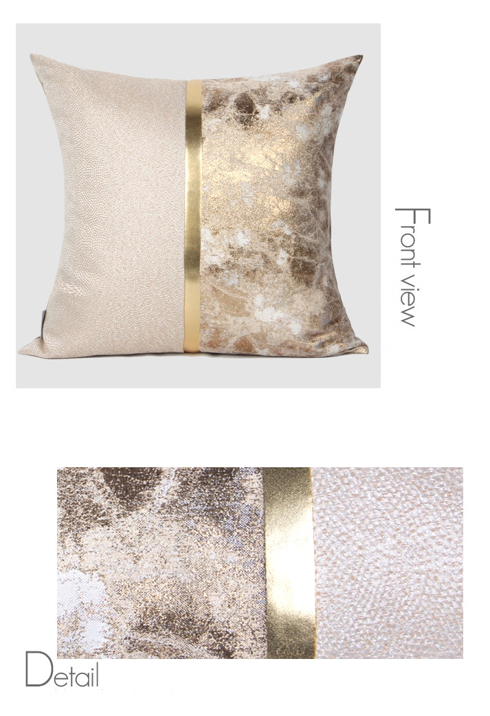 Light Gold Simple Style, Modern Throw Pillow, Pillow Cover with Insert, Sofa Pillows, Bedroom Pillows, Home Decor