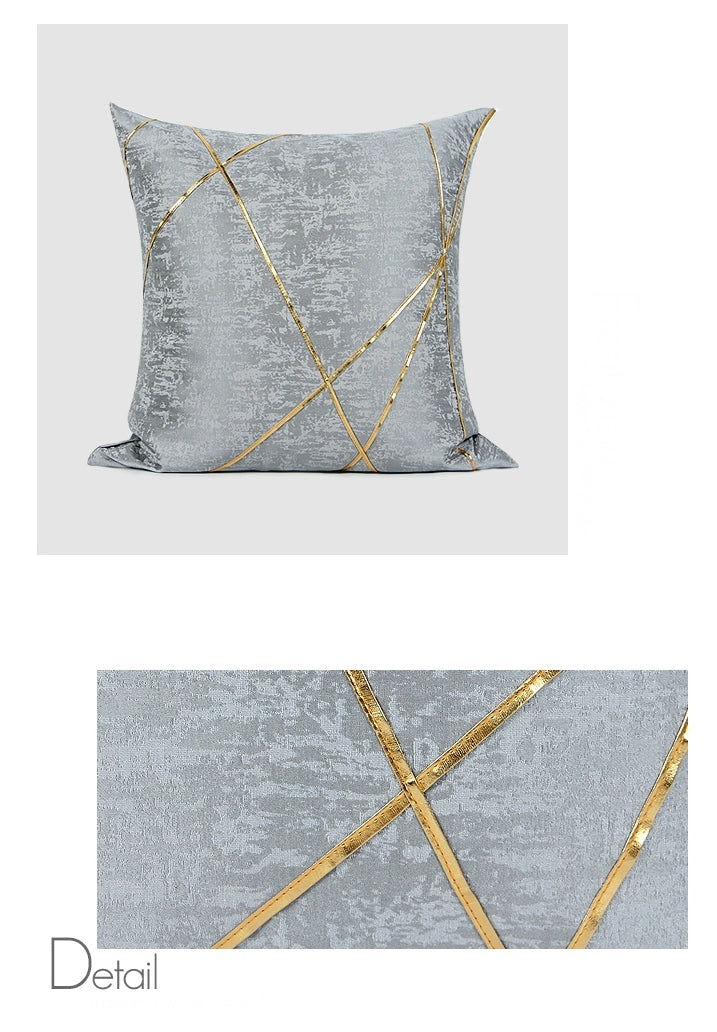 Gray Simple Style, Modern Throw Pillow, Pillow Cover with Insert, Sofa Pillows, Bedroom Pillows, Home Decor