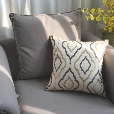 Decorative Throw Pillow, Embroider Cotton Pillow Cover with Insert, Sofa Pillows, Home Decor