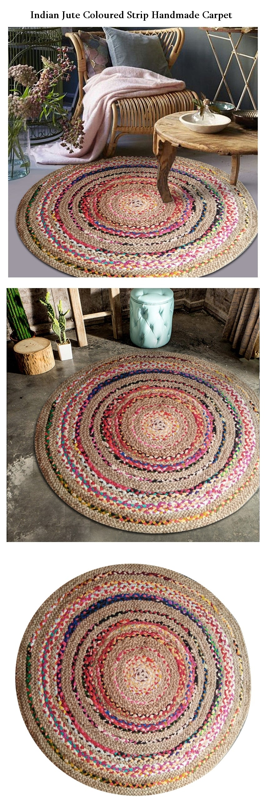 Indian Jute handmade floor carpet