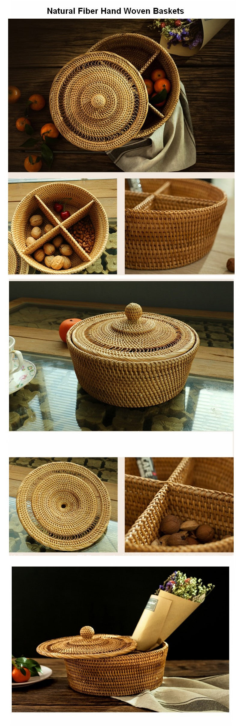Small Rustic Food and Snap Basket