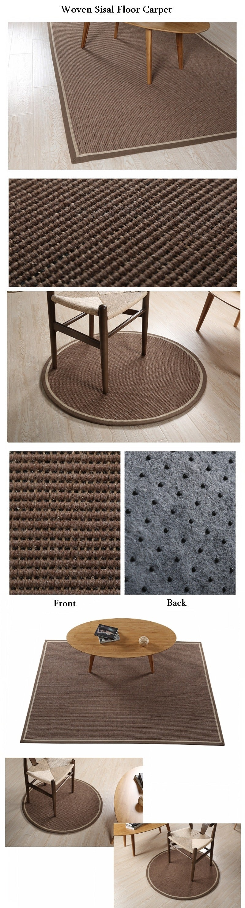 Large Sisal Carpet, Woven Carpet, Rustic Floor Carpet and Rugs