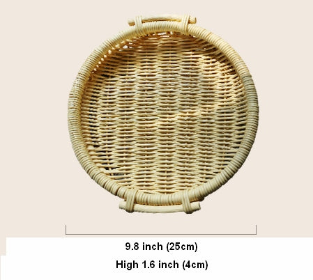 Indonesia Hand Woven Rattan Basket with Handle