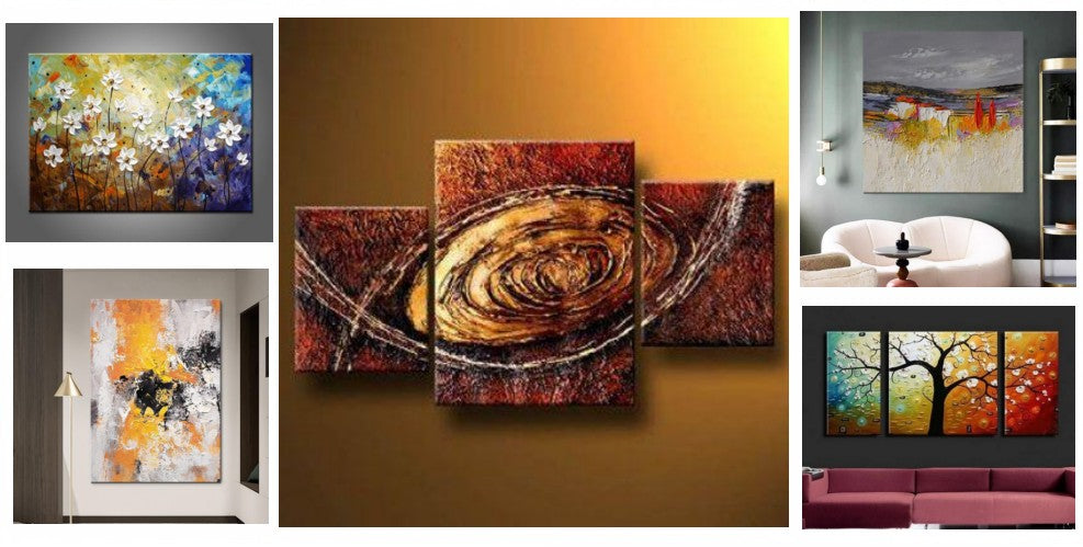 Palette Knife Paintings, Modern Paintings, Abstract Paintings for Living Room, Heavy Texture Paintings, Hand Painted Canvas Art, Oversized Canvas Painting, Acrylic Painting on Canvas, Large Painting for Sale