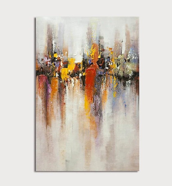 Heavy Texture Painting, Modern Contemporary Paintings, Palette Knife Painting, Acrylic Painting on Canvas