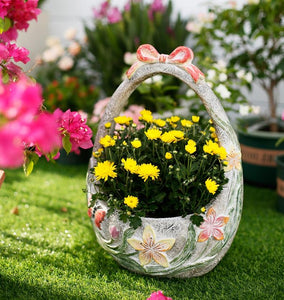 Extra Large Flower Basket Flower Pot, Garden Ornaments, Rustic Outdoor Decoration, Garden Ideas-Paintingforhome
